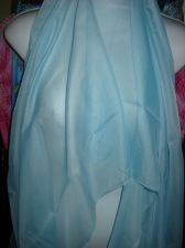 Buy Neck womans Scarf powder blue sheer long shawl wrap valance 52 inch x 20 wide