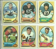Buy VINTAGE LOT OF 6 1970 TOPS NFL CARDS HIGH BOOK VALUE NICE