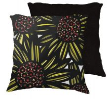 Buy Whelihan 18x18 Yellow Black White Pillow Flowers Floral Botanical Cover Cushion Case