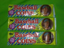 Buy LOT OF 3 1989 TOPPS BASEBALL COINS FACTORY SEALED 3 COINS PER PACK