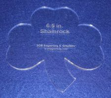 """Buy Shamrock 6 1/2"""" - 1/4"""" Thick - Clear Acrylic - Long Arm (1/4"""" foot) or Hand Sew"""