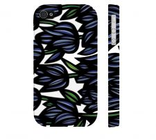 Buy Steiling Blue Black Iphone 4/4S Apple Phone Case Flowers Botanical