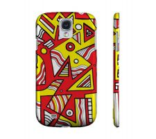 Buy Munivez Yellow Red Black Samsung Galaxy S4 Phone Case