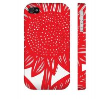 Buy Ruttinger Red White Iphone 4/4S Apple Phone Case Flowers Botanical