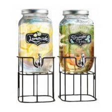 Buy BEVERAGE DISPENSER ONE GALLON, SET OF 2,DAILY AND PARTY PITCHER