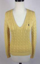 Buy Ralph Lauren Sweater S Womens Yellow Cotton Long Sleeve
