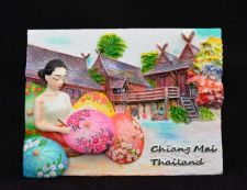 Buy 3D SCULPTURE FRIDGE MAGNET MEMORIAL CHIANG MAI THAILAND COLLECTIBLE SOUVENIR