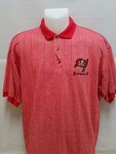 Buy TAMPA BAY BUCCANEERS POLO STYLE RED SHIRT SIZE XL BY DYNASTY