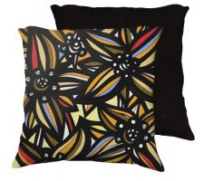 Buy Castrogiovann 18x18 Blue Red Yellow Black Pillow Flowers Floral Botanical Cover Cushi