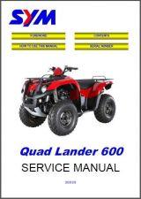 Buy SYM Quad Lander 600 ATV Service Repair Workshop Manual CD - Sanyang Quadlander