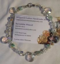 Buy crystal and millefiori glass handmade anklet sizing available