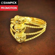 Buy Thai Heart Wedding Ring Baht Yellow Gold GP 22k 24k Size 7 9 Jewelry Engage R005