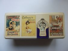 Buy Cadbury's Vintage Tin Box Victorian multi scenes Advertising Chocolate Biscuits