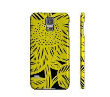 Buy Stillinger Yellow Black Samsung Galaxy S5 Phone Case Flowers Botanical