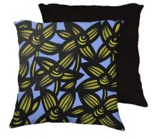 Buy Vo 18x18 Yellow Blue Black Pillow Flowers Floral Botanical Cover Cushion Case Throw P