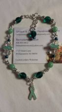 Buy ovarian cancer awareness glass crystal handmade anklet sizing available