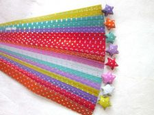 Buy 140 STRIPS ORIGAMI PAPER STAR FOLDING KIT LUCKY WISH STAR MULTI COLOR 7mm