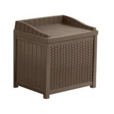 Buy PATIO STORAGE CONTAINER AND SEAT 22 GALLON MOCHA