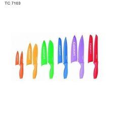 Buy New 12 Pc Knife Set Cuisinart Color Advantage Blade Guards Kitchen Restaurant