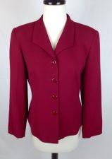 Buy Talbots Jacket Womens 8 Pink Wool Long Sleeve