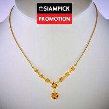 "Buy 18"" Rose Pendant Necklace 22k 24k Thai Baht Yellow Gold GP Chain Jewelry N070 GF"