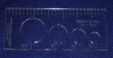 """Buy 4 Hole Mini-Circle Quilt Template w/Ruler ~3/8"""" Thick -Embroidery- For 1/4"""" Foot"""