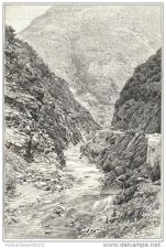 Buy CORSICA ( FRANCE) - RUISSEAU DES SINGES HOTEL - engraving from 1891