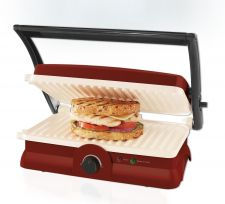 Buy NEW Oster Panini Maker Grill DuraCeramic Kitchen Appliance Red