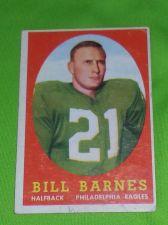 Buy VINTAGE BILL BARNES EAGLES SUPERSTAR 1958 TOPPS #4 FR-GD