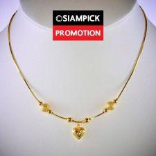 "Buy 18"" Dubai Bead Necklace Thai Baht Yellow Gold GP 22k 24k Long Chain Jewelry N072"