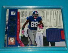 Buy NFL HAKEEM NICKS 2012 PANINI GAME WORN JERSEY RELIC /299 GD/VG