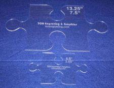 "Buy Templates-2 Piece Set Puzzle Pieces - 1/8"" Clear Acrylic -"