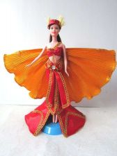 Buy CLEOPATRA RED FANCY CLOTHES GROWN DRESS HANDMADE FASHION FOR BARBIE, DOLLS 12""