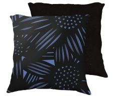 Buy Coleman 18x18 Blue Black Pillow Flowers Floral Botanical Cover Cushion Case Throw Pil