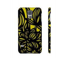 Buy Hamza Yellow Black Samsung Galaxy S5 Phone Case Flowers Botanical