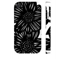 Buy Linda Black White Iphone 4/4S Apple Phone Case Flowers Botanical