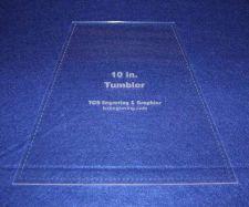 "Buy Quilt Templates-Tumbler 10"" w/Seam Allowance - 1/8"" Clear Acrylic -"
