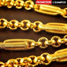 "Buy 24"" Thai Baht 22k 23k 24k Yellow Gold Plated GP Rolo Chain Necklace Jewelry N015"