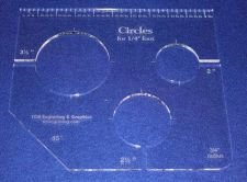 """Buy 3 Hole Circle Quilt Template w/Ruler 1/4"""" Thick - Long Arm- For 1/4"""" Foot"""