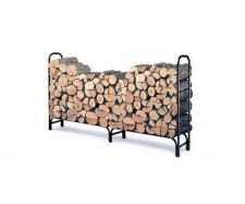 Buy Firewood Log Rack 8 Feet Steel Heavy Duty Fitted Cover Storage Outdoor Fireplace