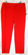 Buy NWT sz.14 NINE WEST Red Cape Town Flat Front Skinny Leg Dress Pants Trousers