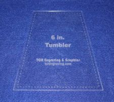 "Buy Quilt Templates-Tumbler 6"" w/Seam Allowance - 1/8"" Clear Acrylic -"