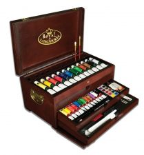 Buy Deluxe Art Set 80 Piece Painting Chest Art Supplies Artist Case Kit Paint Set