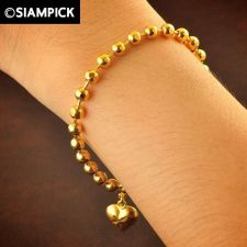 Buy 22k 24k Thai Baht Yellow Gold Plated GP Bead Bracelet Chain Bangle Jewelry B049