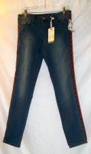Buy NWT, women's, Sz. 7 (super skinny), American Rag, blue denim jeans w/side accent