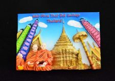 Buy 3D SCULPTURE FRIDGE MAGNET MEMORIAL WAT PHRA THAT DOI SUTHEP THAILAND SOUVENIR