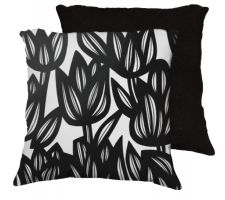 Buy 22x22 Delfelder Black White Pillow Flowers Floral Botanical Cover Cushion Case Throw