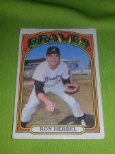 Buy VINTAGE RON HERBEL BRAVES 1972 TOPPS #469 GD
