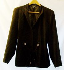 Buy EUC women's sz.22, CHADWICKS, black, snap/belt closure, waist length, coat