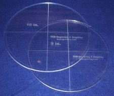 """Buy 2 Piece Circle Set - with Seam Allowance 9"""", 10"""" ~ 1/4"""" Thick - Long Arm"""